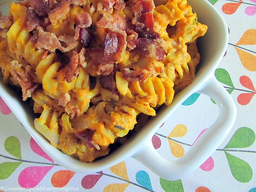 Pumpkin Pasta with Bacon and Thyme | by CinnamonKitchn
