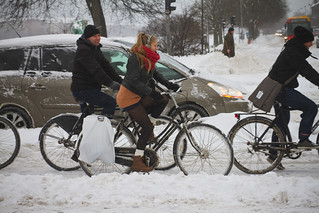 Snowstorm Coolicious - Winter Cycling in Copenhagen | by Mikael Colville-Andersen