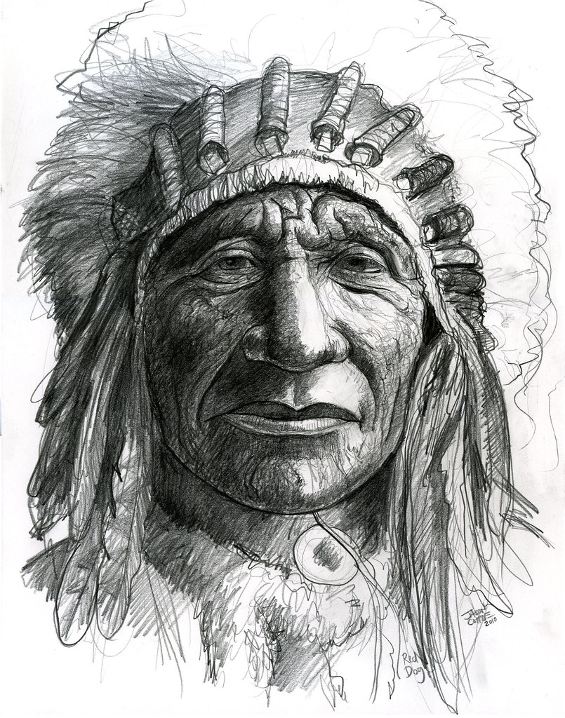 Native American close-up | Graphite sketch. 11x14 inches ...