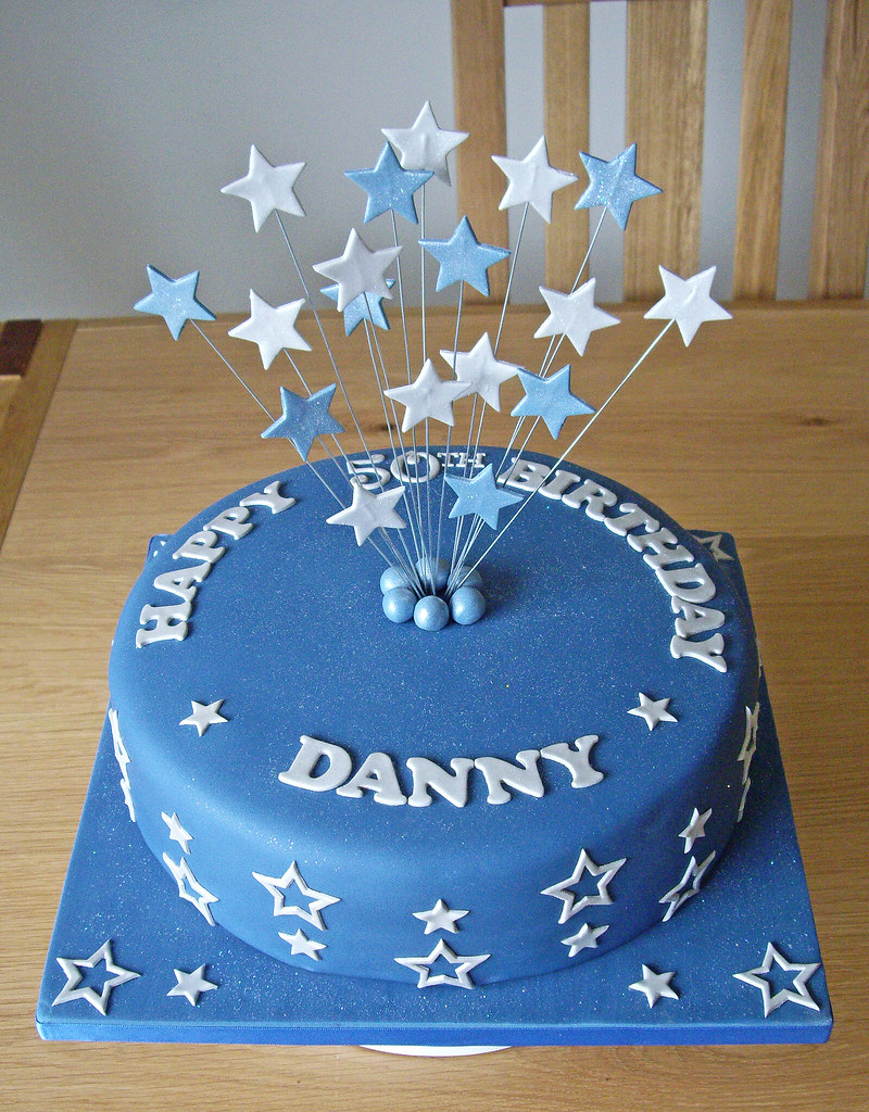 Danny S 50th Birthday Cake Traditional Vanilla Sponge