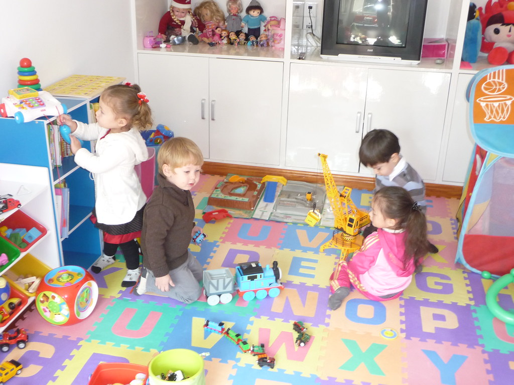 Kids Playing In The Play Room We Hosted A Party To