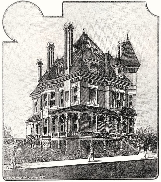 Drawing Pratt Campbell Mansion 1313 N Emporia In Wichita Flickr