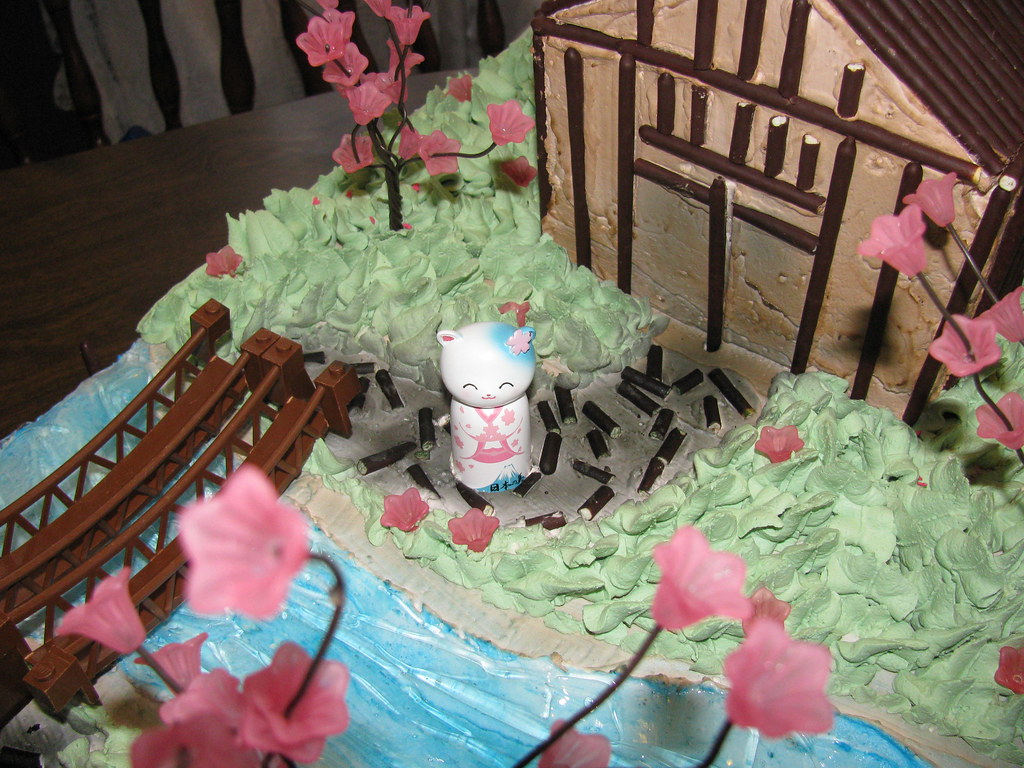 Japanese Garden Theme Cake The Making 11 A Closer Look