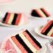 Sliced Neapolitan Cake