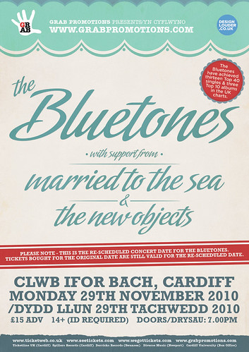 Bluetones Poster Design | by designlouder