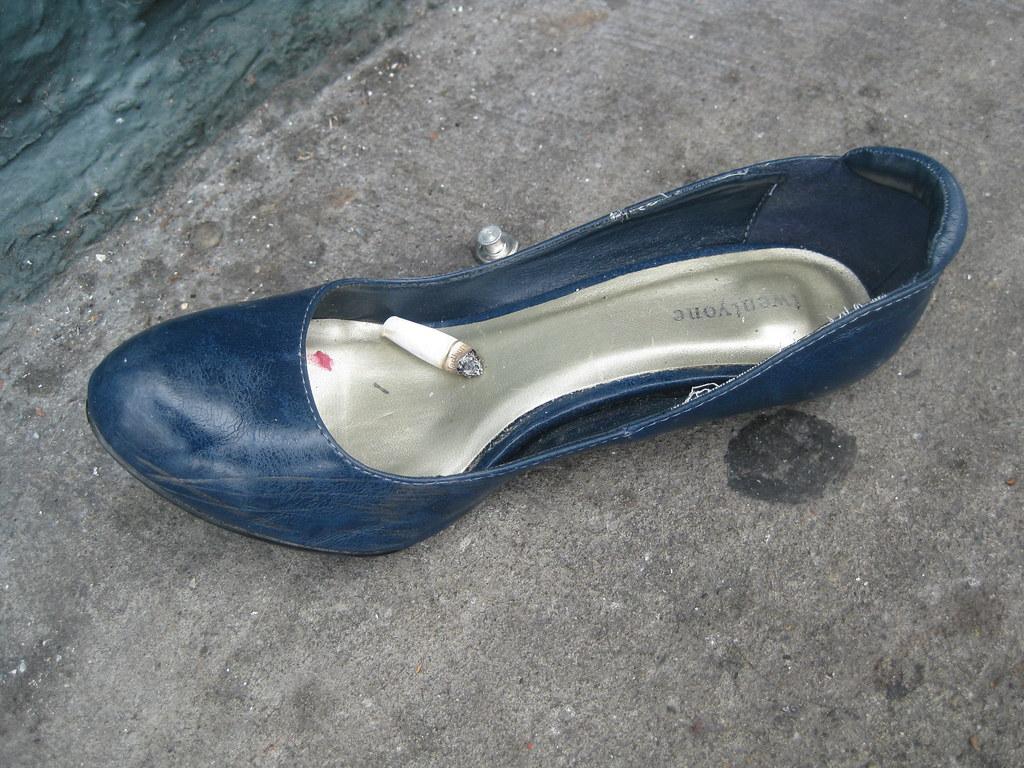 Abandoned Shoe With Heel Broken Off Tenderloin San Franc