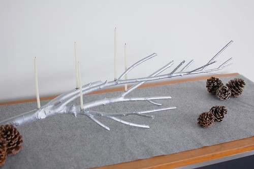 DIY branch candle holder | by Martha W McQuade