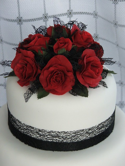 red rose cake topper Flickr - Photo Sharing!