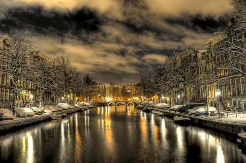 Amsterdam by snowy night | by A r l e t t e (reloaded)