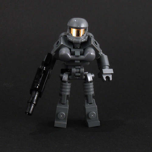 Halo type brick built action figure | by Larry Lars