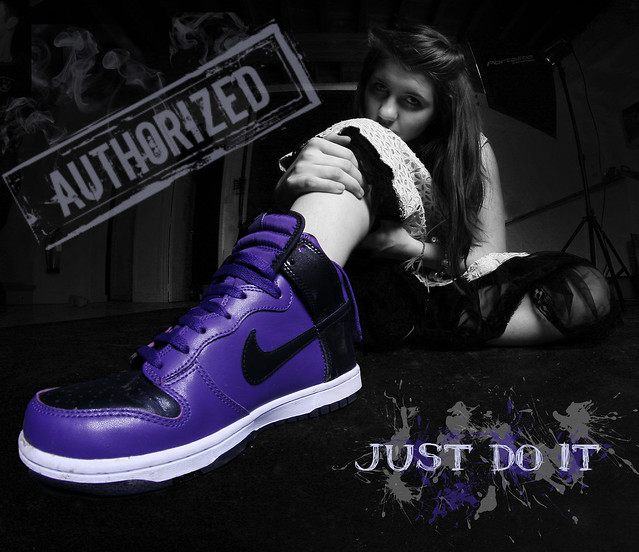 Purple White Nike Shoes