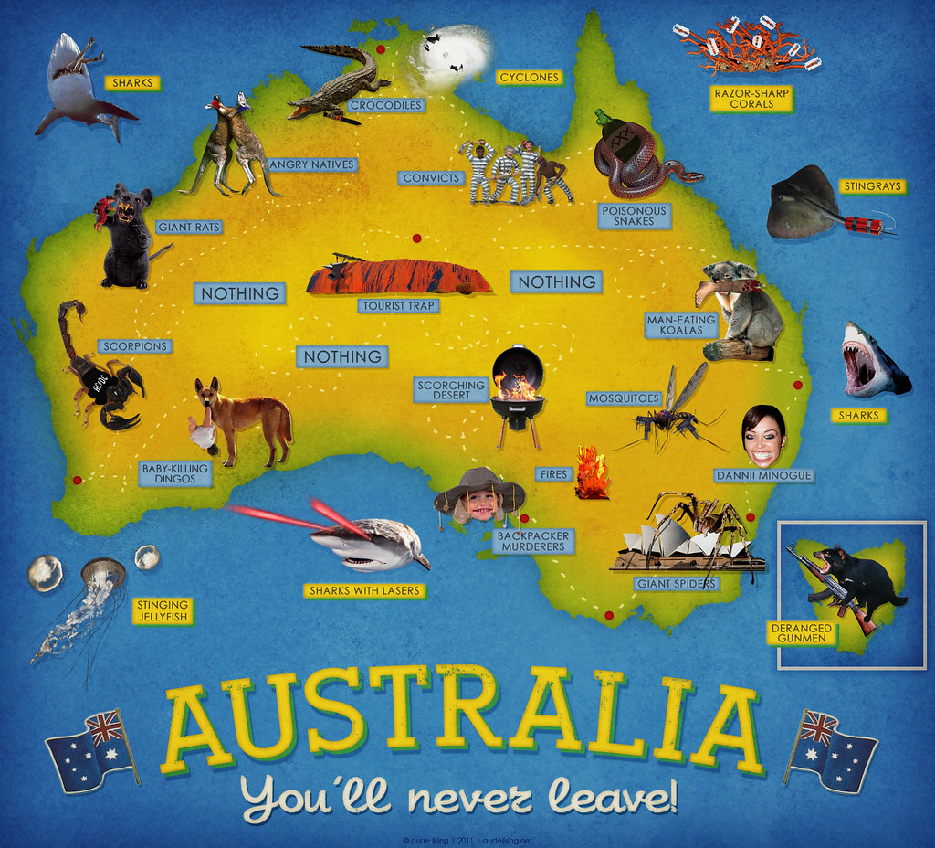 tourist map of australia  here's the story on this i was l…  flickr -