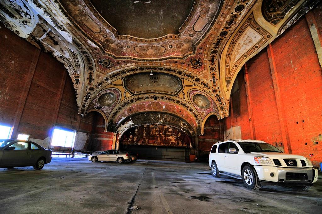 detroit michigan theatre now car park and eminem 8 mile fi flickr. Black Bedroom Furniture Sets. Home Design Ideas