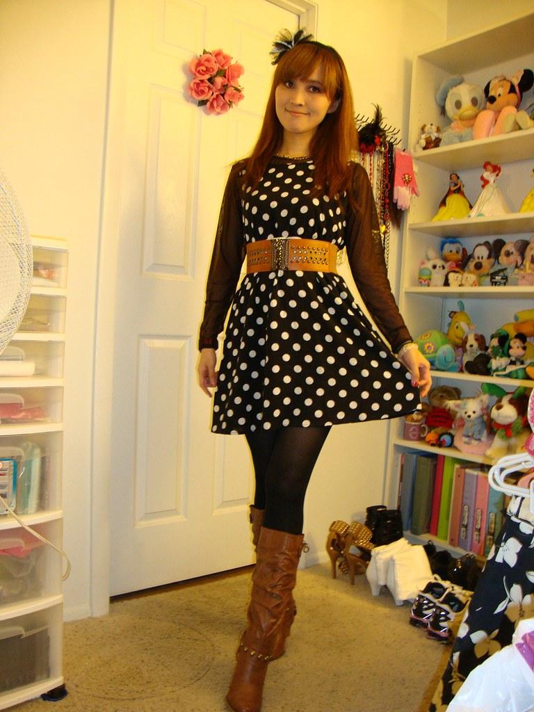 Dsc05960 Dress Modcloth Top Belt Wet Seal Shoes