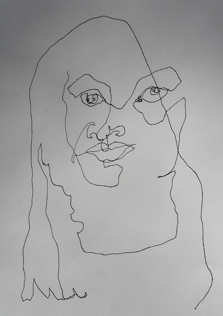 Contour Line Drawing Jobs : Img blind contour line drawing self portrait