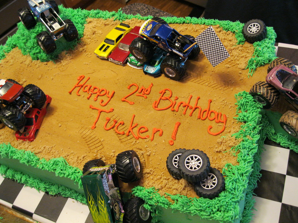 Monster Truck Sheet Cake Angie Carroll Flickr