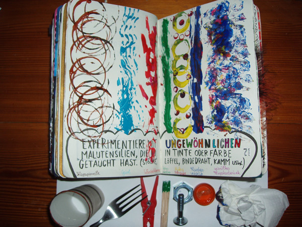 Drawing Lines For Calligraphy : Wreck this journal draw lines using abnormal writing uten