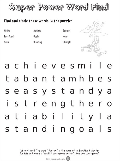 Capable Kids Clubhouse Super Power Word Find   Download a ...
