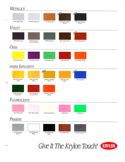 1995 krylon color chart page 2 flickr photo
