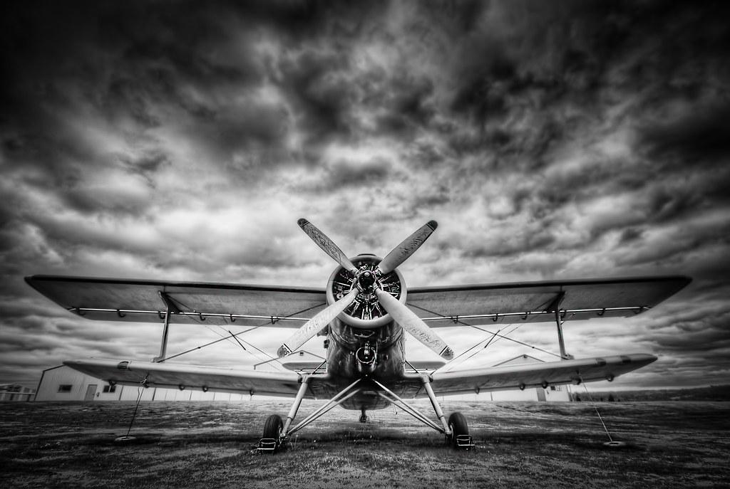 Black & White Bi-Plane | | www.DaveMorrowPhotography.com ...