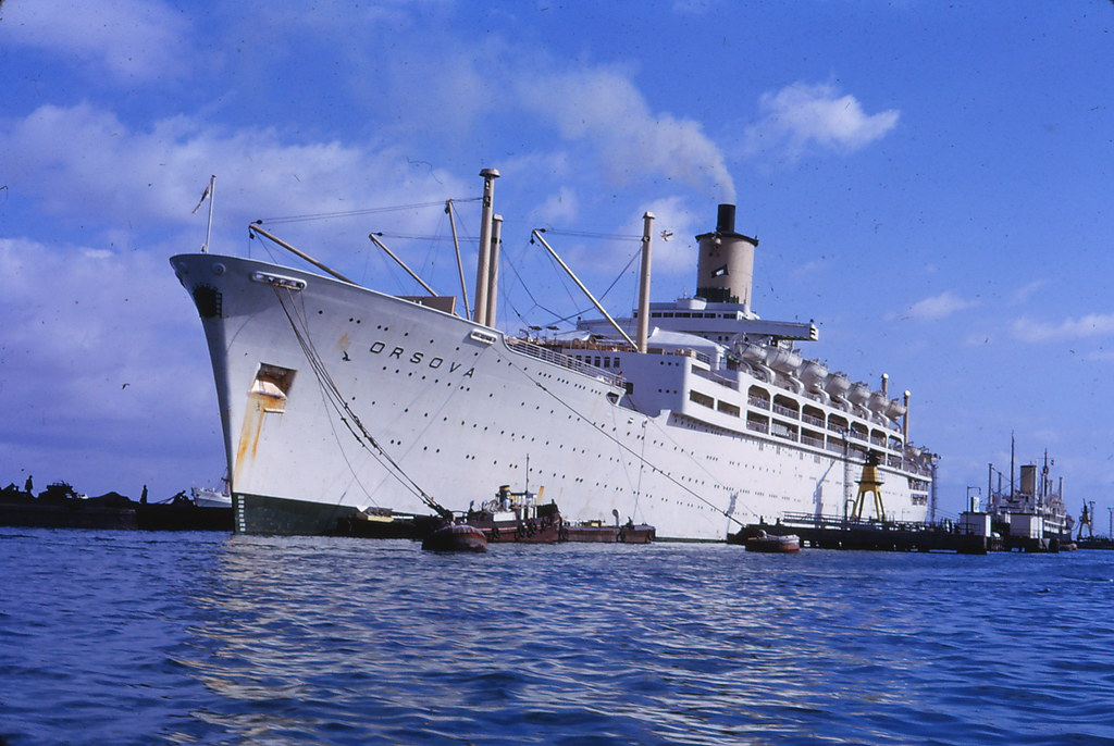 15 Jan 7th 1966 Our Ship The Ss Orsova P Amp O In Port In Ade