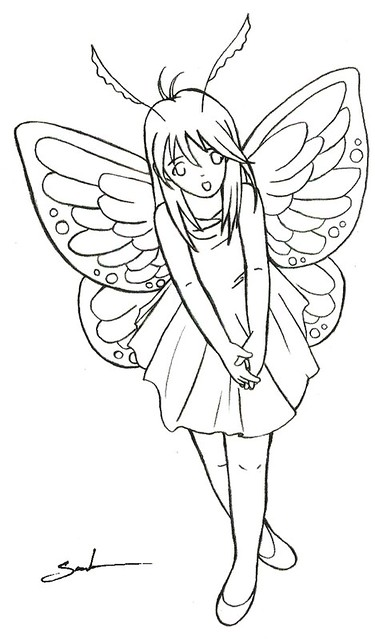 Chibi Anime Fairy Coloring Pages Sketch Coloring Page