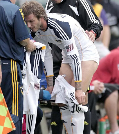 David Beckham Briefs | David takes off his shorts to ... David Beckham