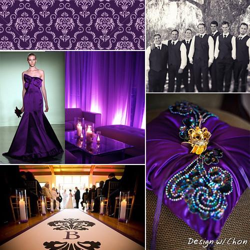 Black And Purple Wedding Ideas: Colors: Black, Purple, Lavender