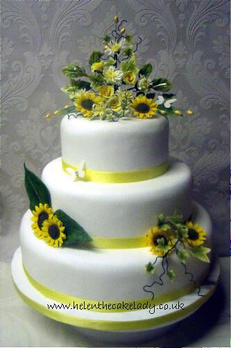 Sunflower Wedding Cake Images