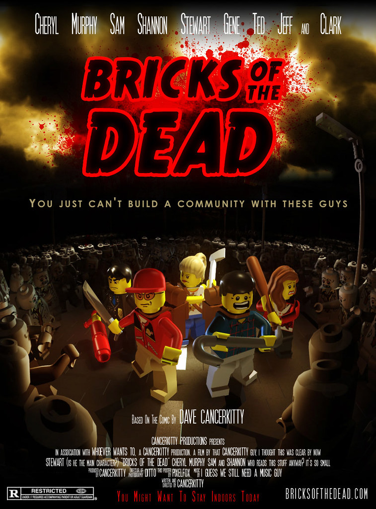 bricks of the dead movie poster my entry for the bricks