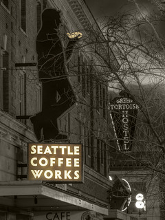 Seattle Coffee Works sign