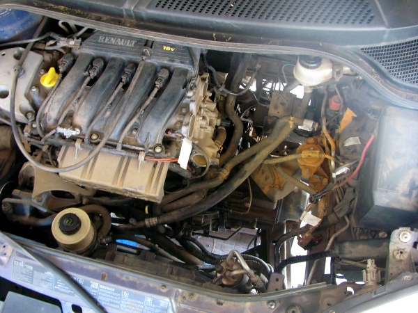 Renault Scenic Rx4 Plumbing Removed Looking Into The