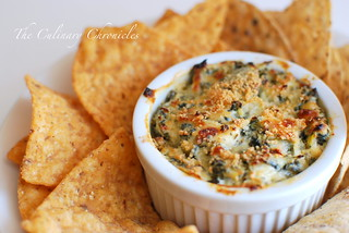 Mediterranean Spinach Artichoke Dip | by The Culinary Chronicles