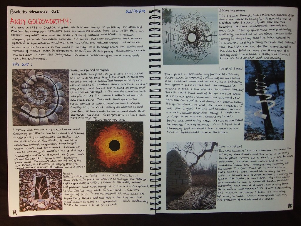 Line Drawing Artist Research : Sketchbook work and ideas goldsworthy research for enviro