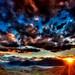 Azure and Crimson Twilight