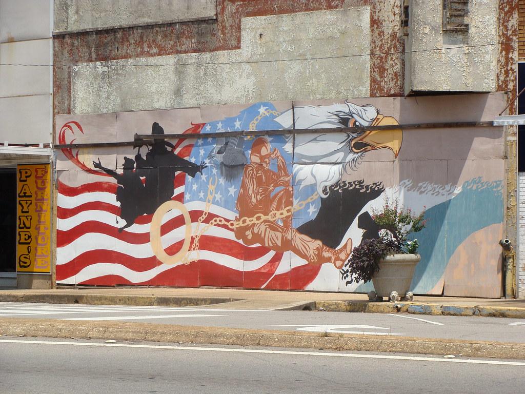 Wall mural roanoke al police fireman military thank for Alabama wall mural