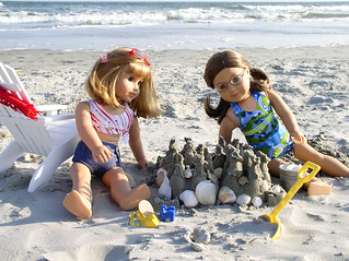 American Girl Dolls make Sandcastles | by Julia Monroe