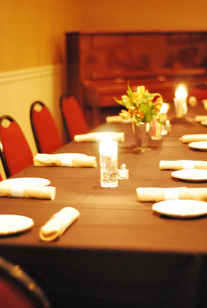 Fine dining table setting apu dining services flickr for Fine dining table setting