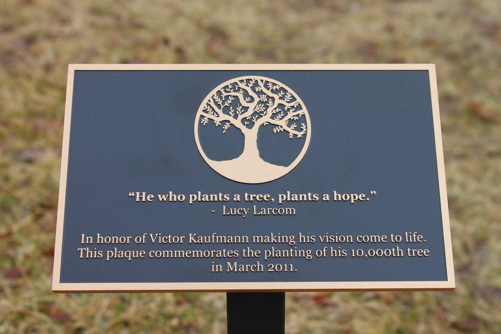 Cast Bronze Garden Plaque With Stake Memorial Garden