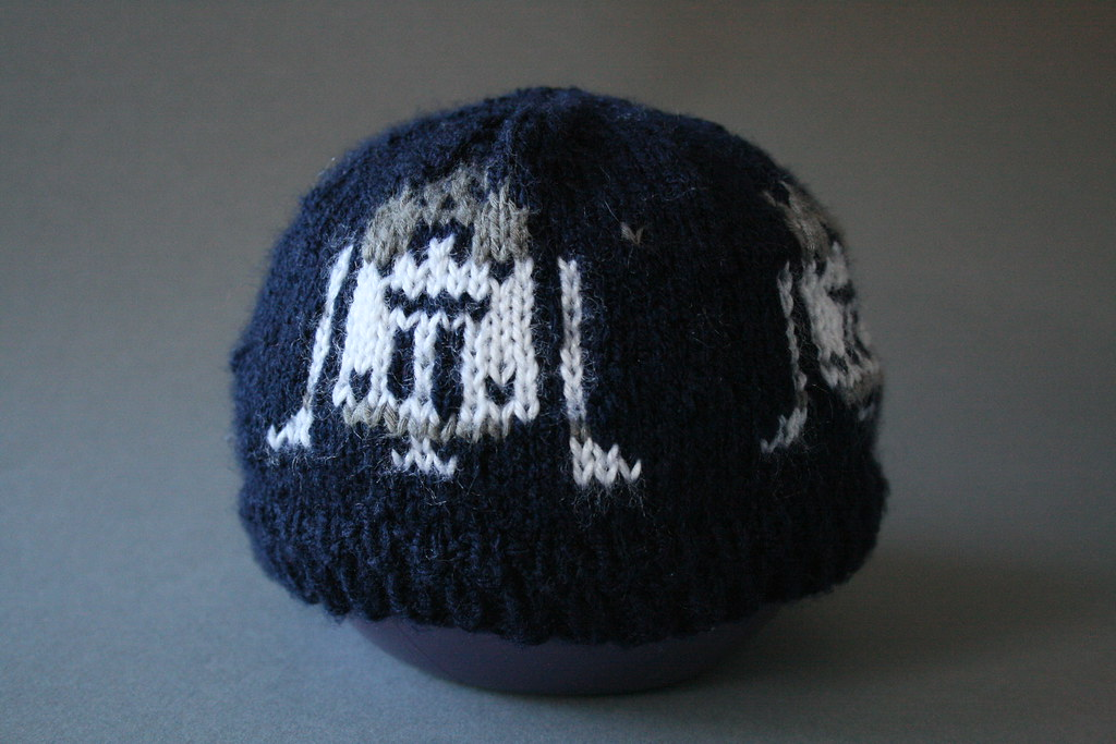 R2D2 Knitted in Fair Isle - Star Wars Baby Hat Used navy f? Flickr