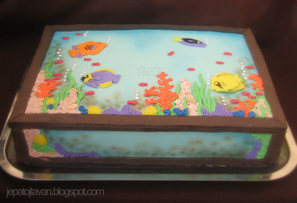 Aquarium Cake Pixie Pie Flickr