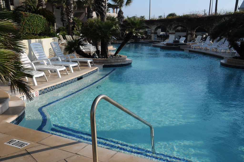 Swimming Pool Hotel Galvez Galveston Texas TX