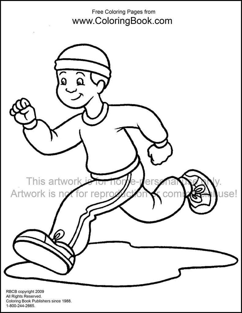kid jogging free coloring page wayne bell flickr