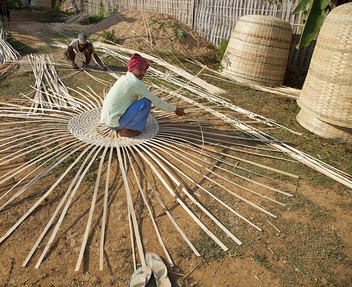 How To Weave A Cane Basket : Basket weaving assam india flickr photo sharing