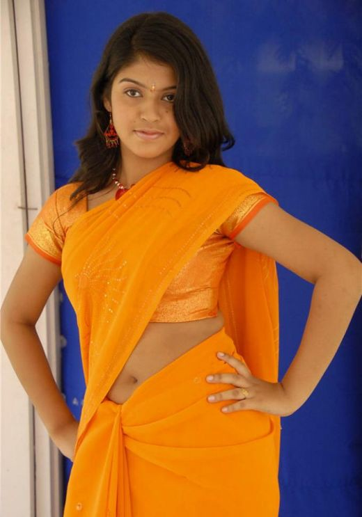 best orange saree side view deepika deepika flickr