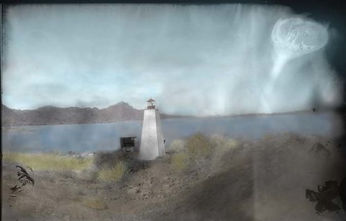 Sandy Hook Replica Lighthouse, Havasu Springs Marina, Arizona, USA | by Crunchy Footsteps