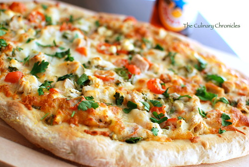 Roasted Garlic Chicken Pizza | by The Culinary Chronicles