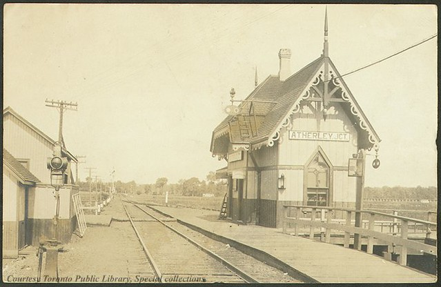 Atherley Jct. Railway Station. Atherley, Ontario, Canada ...