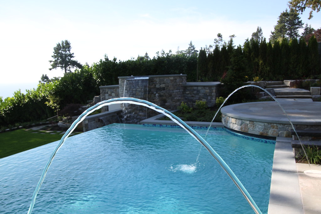Laminar Jets Into Three Sided Infinity Edge Pool With Elev