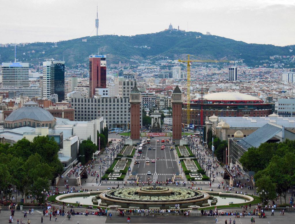 Pla a d 39 espanya barcelona view from museu nacional d - Placa kennedy barcelona ...
